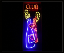Club with bottle Neon Sign